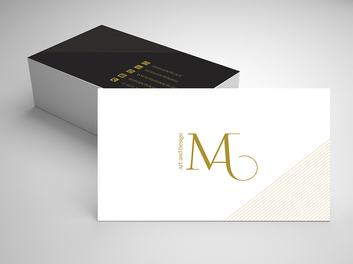 mananeh.art Graphic design - Business card design